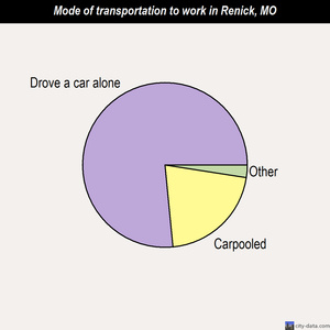 Renick mode of transportation to work chart
