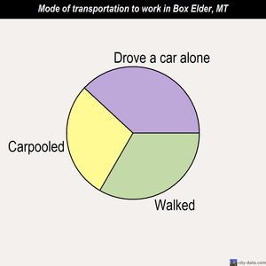 Box Elder mode of transportation to work chart