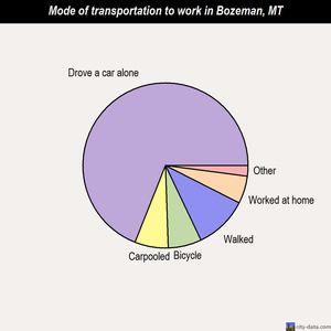 Bozeman mode of transportation to work chart