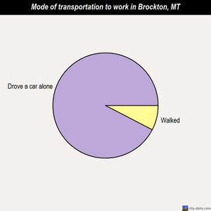 Brockton mode of transportation to work chart