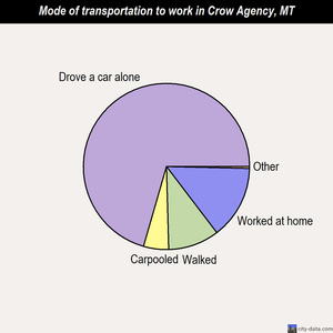 Crow Agency mode of transportation to work chart
