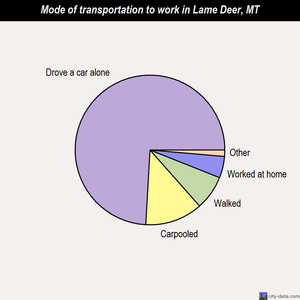 Lame Deer mode of transportation to work chart