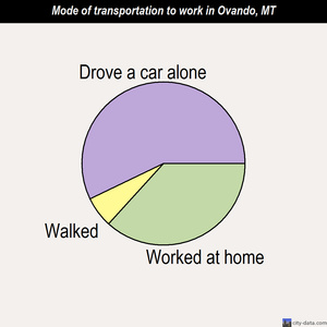 Ovando mode of transportation to work chart