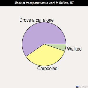 Rollins mode of transportation to work chart