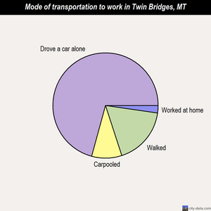 Twin Bridges mode of transportation to work chart
