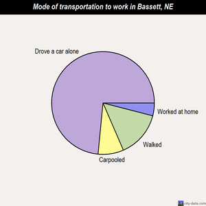 Bassett mode of transportation to work chart