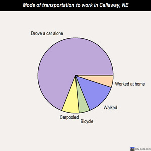 Callaway mode of transportation to work chart