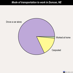 Duncan mode of transportation to work chart