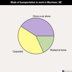 Merriman mode of transportation to work chart