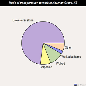 Newman Grove mode of transportation to work chart