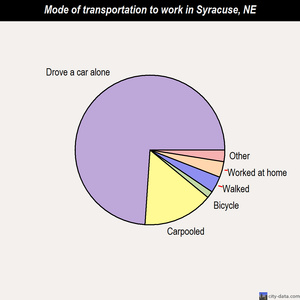 Syracuse mode of transportation to work chart