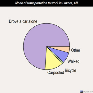 Luxora mode of transportation to work chart