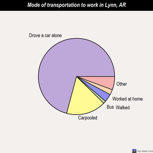 Lynn mode of transportation to work chart