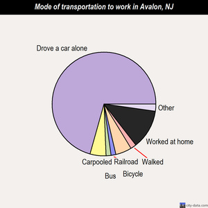Avalon mode of transportation to work chart