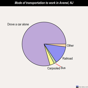 Avenel mode of transportation to work chart