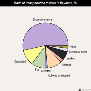 Bayonne mode of transportation to work chart