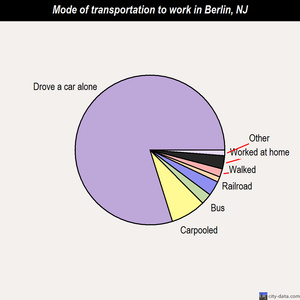 Berlin mode of transportation to work chart