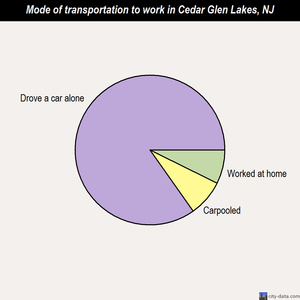 Cedar Glen Lakes mode of transportation to work chart