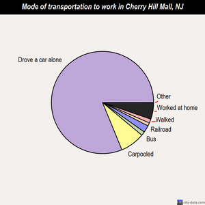 Cherry Hill Mall mode of transportation to work chart