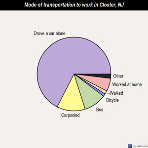 Closter mode of transportation to work chart