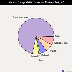 Florham Park mode of transportation to work chart
