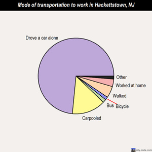 Hackettstown mode of transportation to work chart