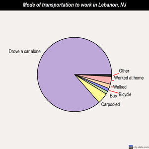 Lebanon mode of transportation to work chart