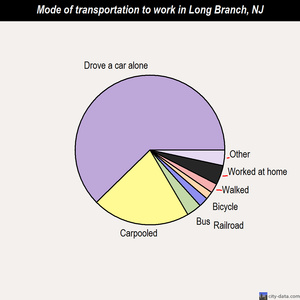 Long Branch mode of transportation to work chart