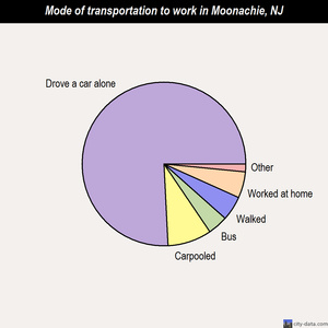 Moonachie mode of transportation to work chart