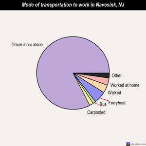 Navesink mode of transportation to work chart