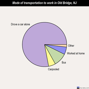 Old Bridge mode of transportation to work chart