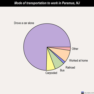 Paramus mode of transportation to work chart