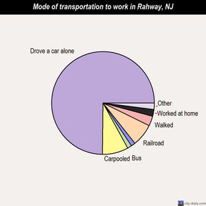 Rahway mode of transportation to work chart