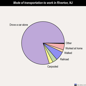Riverton mode of transportation to work chart
