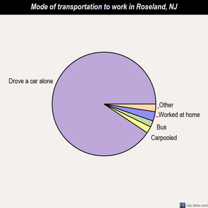 Roseland mode of transportation to work chart