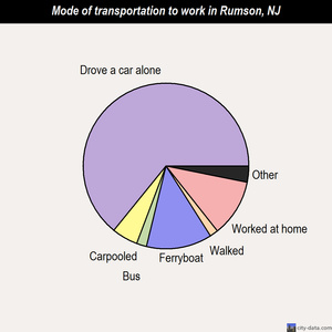 Rumson mode of transportation to work chart