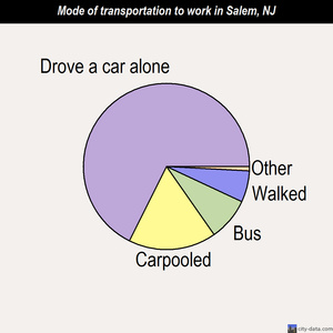 Salem mode of transportation to work chart