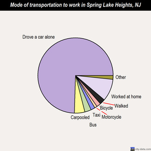 Spring Lake Heights mode of transportation to work chart