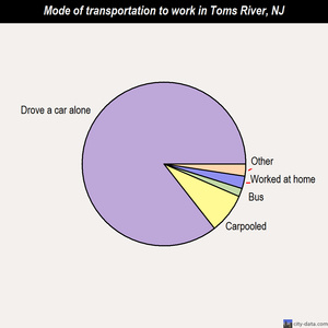 Toms River mode of transportation to work chart