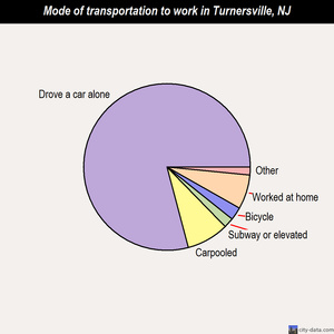 Turnersville mode of transportation to work chart