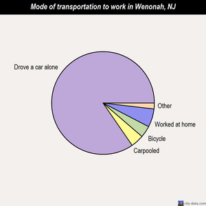 Wenonah mode of transportation to work chart