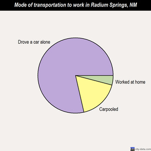 Radium Springs mode of transportation to work chart