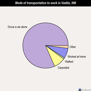 Vadito mode of transportation to work chart