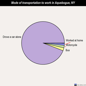 Aquebogue mode of transportation to work chart