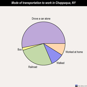 Chappaqua mode of transportation to work chart