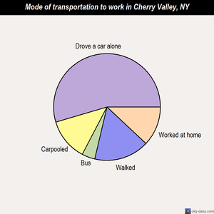 Cherry Valley mode of transportation to work chart