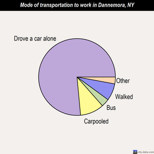Dannemora mode of transportation to work chart
