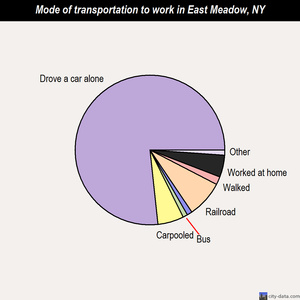 East Meadow mode of transportation to work chart