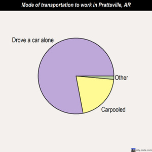 Prattsville mode of transportation to work chart