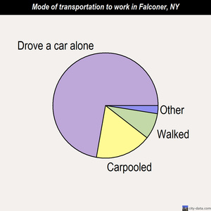 Falconer mode of transportation to work chart